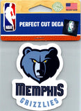 "(HCW) Memphis Grizzlies Perfect Cut Colour 4""x4"" NBA Licensed Decal Sticker"