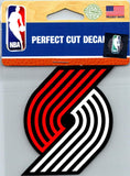 "(HCW) Portland Trail Blazers Perfect Cut Colour 4""x4"" NBA Licensed Decal Sticker"