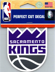 "(HCW) Sacramento Kings Perfect Cut Colour 4""x4"" NBA Licensed Decal Sticker"