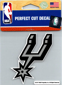"(HCW) San Antonio Spurs Perfect Cut Colour 4""x4"" NBA Licensed Decal Sticker"