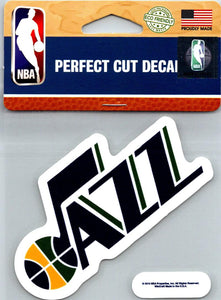 "(HCW) Utah Jazz Perfect Cut Colour 4""x4"" NBA Licensed Decal Sticker"