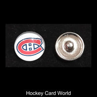 Montreal Canadiens NHL Snap Ginger Button Jewelry for Jackets, Bracelets.