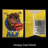 1987 Topps ALF Series 1 Hobby Pack - 5 Trading Cards + 1 Sticker + Gum