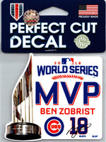 Wincraft Chicago Cubs 2016 World Series MVP Zobrist Perfect Cut Decal MLB 4
