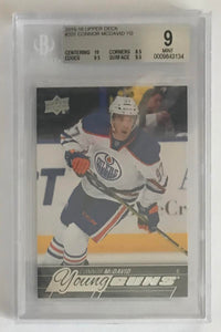 2015-16 Upper Deck CONNOR McDAVID Young Guns BGS 9 Rookie RC Mint -3134