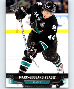 2013-14 Upper Deck #185 Marc-Edouard Vlasic Sharks NHL Hockey