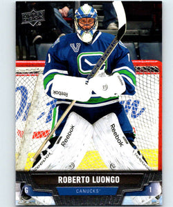 2013-14 Upper Deck #198 Roberto Luongo Canucks NHL Hockey