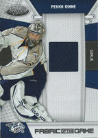2010-11 Panini Certified Fabric of the Game Pekka Rinne 8/250 Jersey 04180