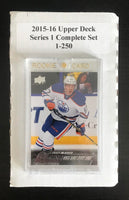 2015-16 Upper Deck Series 1 Set 1-250 Connor McDavid Young Guns RC ++