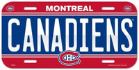 Montreal Canadiens Durable Plastic Wincraft License Plate NHL 6