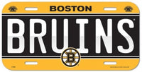 Boston Bruins Durable Plastic Wincraft License Plate NHL 6