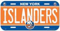 New York Islanders Durable Plastic Wincraft License Plate NHL 6