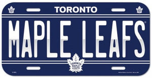 "Toronto Maple Leafs Durable Plastic Wincraft License Plate NHL 6""x12"""