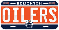Edmonton Oilers Durable Plastic Wincraft License Plate NHL 6