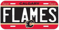 Calgary Flames Durable Plastic Wincraft License Plate NHL 6