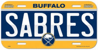 Buffalo Sabres Durable Plastic Wincraft License Plate NHL 6
