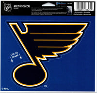 St. Louis Blues Multi-Use Coloured Decal Sticker 5
