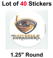 Atlanta Thrashers Lot of 40 NHL Logo Stickers - 1.25