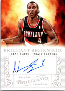 2012-13 Panini Brilliance Brilliant Beginnings Nolan Smith Auto NBA 04218