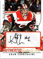 2007-08 In The Game Between The Pipes Autographs Adam Courchaine Auto 04222