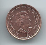 (HCW) 2010 Canadian 1 Cent Penny Coin Canada - Uncirculated Now *8020