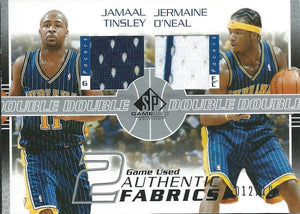 2003-04 SP Game Used Authentic Fabrics Dual Pacers Tinsley/O'Neal 04239