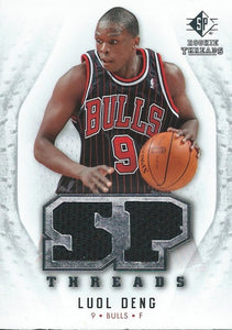 2008-09 SP Rookie Threads SP Threads Luol Deng NM-MT NBA Jersey Bulls 04240
