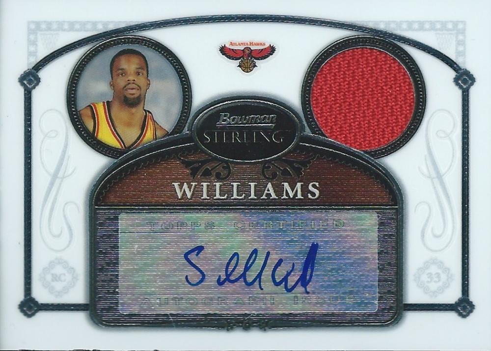 2006-07 Bowman Sterling Refractors NBA Shelden Williams Jersey Auto 04242