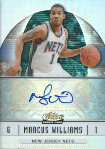 2006-07 Topps Finest Rookie Autographs Refractors Marcus Williams Auto 04244