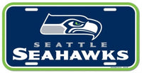 Seattle Seahawks Durable Plastic Wincraft License Plate NFL 6