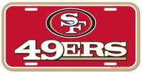 San Francisco 49ers Durable Plastic Wincraft License Plate NFL 6