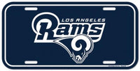 Los Angeles Rams Durable Plastic Wincraft License Plate NFL 6