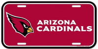 Arizona Cardinals Durable Plastic Wincraft License Plate NFL 6