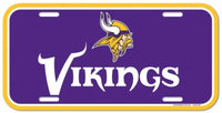 Minnesota Vikings Durable Plastic Wincraft License Plate NFL 6