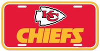 Kansas City Chiefs Durable Plastic Wincraft License Plate NFL 6