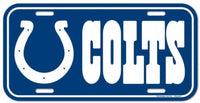 Indianapolis Colts Durable Plastic Wincraft License Plate NFL 6