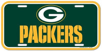 Green Bay Packers Durable Plastic Wincraft License Plate NFL 6