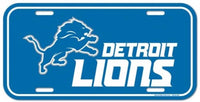 Detroit Lions Durable Plastic Wincraft License Plate NFL 6