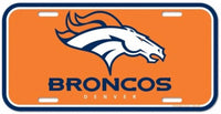 Denver Broncos Durable Plastic Wincraft License Plate NFL 6