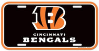 Cincinnati Bengals Durable Plastic Wincraft License Plate NFL 6