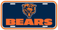 Chicago Bears Durable Plastic Wincraft License Plate NFL 6