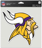 "Minnesota Vikings Perfect Cut 8""x8"" Large Licensed NFL Decal Sticker"