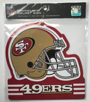 San Francisco 49ers NFL Embossed Heavy-Duty Metal Helmet Sign 8