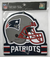 New England Patriots NFL Embossed Heavy-Duty Metal Helmet Sign 8