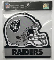 Oakland Raiders NFL Embossed Heavy-Duty Metal Helmet Sign 8