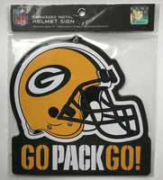 Green Bay Packers NFL Embossed Heavy-Duty Metal Helmet Sign 8