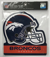 Denver Broncos NFL Embossed Heavy-Duty Metal Helmet Sign 8