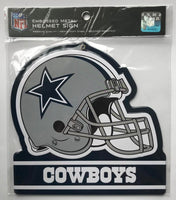 Dallas Cowboys NFL Embossed Heavy-Duty Metal Helmet Sign 8