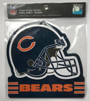Chicago Bears NFL Embossed Heavy-Duty Metal Helmet Sign 8