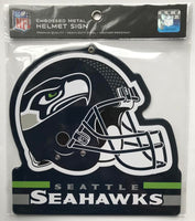 Seattle Seahawks NFL Embossed Heavy-Duty Metal Helmet Sign 8